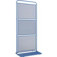 SICHTSCHUTZ - Blau, KONVENTIONELL, Metall (80/50/180cm)