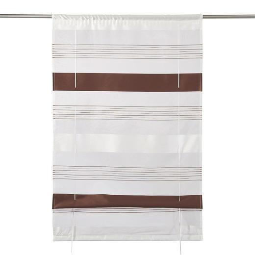 RAFFROLLO  halbtransparent   80/130 cm - Dunkelbraun, Textil (80/130cm) - ESPOSA