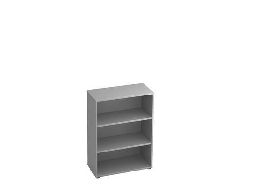 REGAL in Grau - Schwarz/Grau, KONVENTIONELL, Holzwerkstoff/Kunststoff (80/110/40cm)