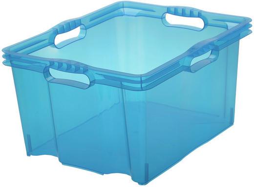 BOX Kunststoff Blau - Blau, Design, Kunststoff (43/23/35cm)