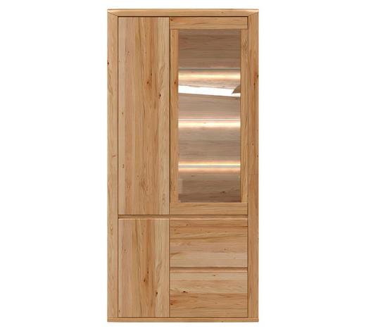 VITRÍNA, barvy dubu - šedá/barvy dubu, Konvenční, dřevo/kompozitní dřevo (99/203/38cm) - Voleo
