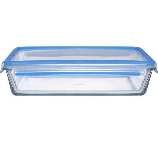 FRISCHHALTEDOSE 1,30 L - Blau/Klar, KONVENTIONELL, Glas (24/18/7cm) - Emsa