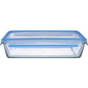 FRISCHHALTEDOSE 1,30 L  - Klar/Blau, Basics, Glas (24/18/7cm) - Emsa