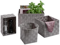 KORBSET 4-teilig  - Taupe, Basics, Textil/Metall - Landscape