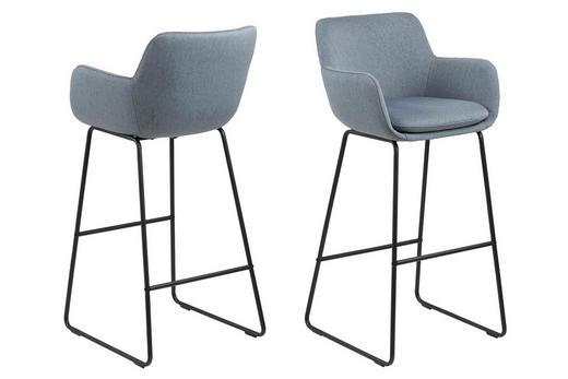 BARSKA STOLICA - plava/crna, Design, metal/tekstil (52/100/53cm) - Hom`in