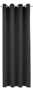 ZAVJESA S RINGOVIMA - crna, Konvencionalno, tekstil (140/245cm) - ESPOSA