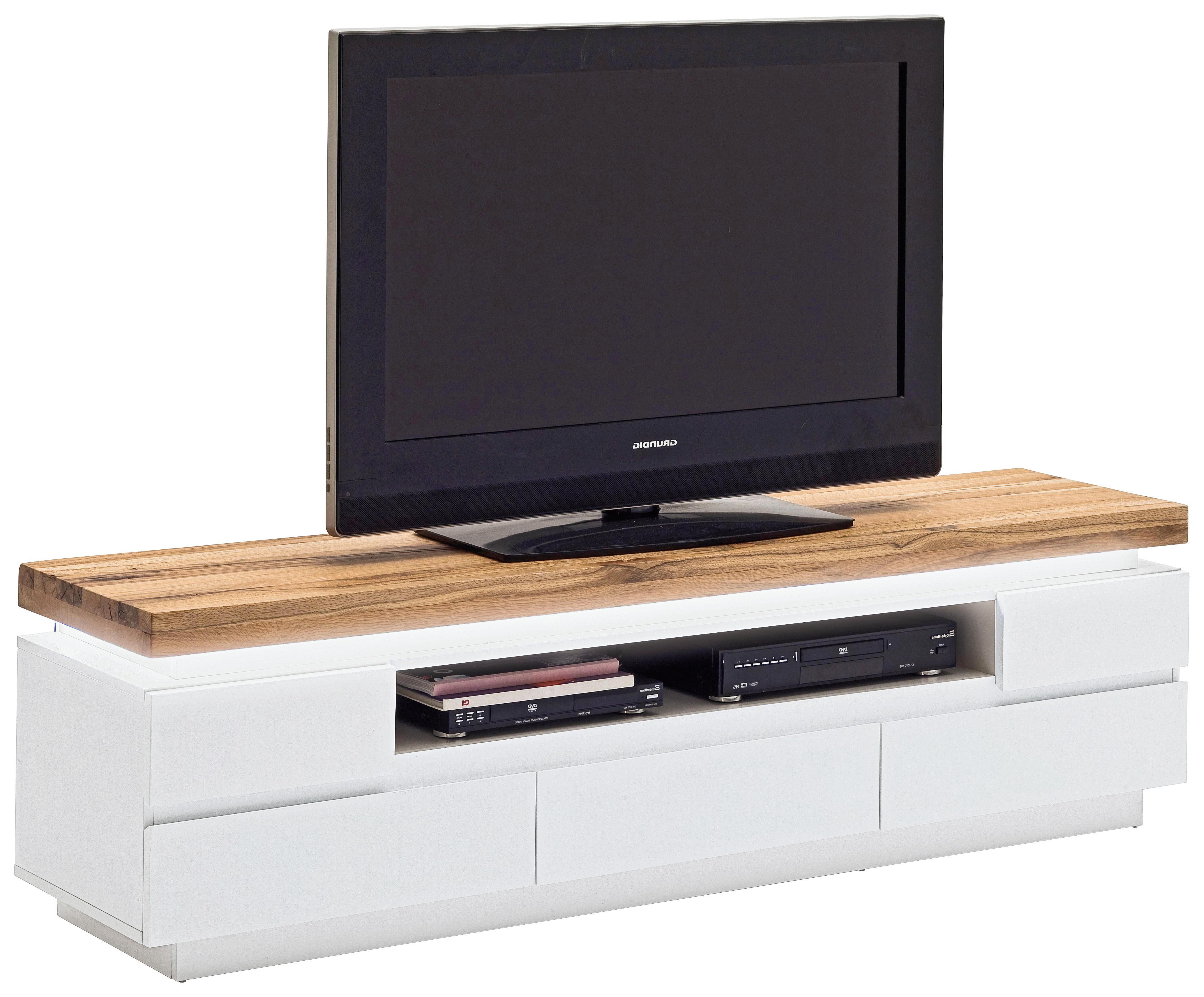 Modernes Lowboard In Weiß & Eiche