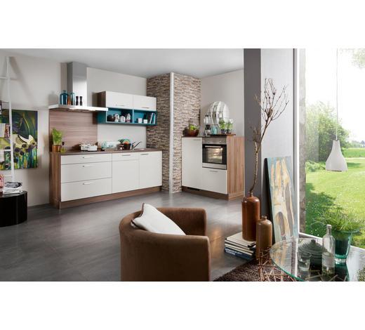 ROHOVÁ KUCHYŇ - magnolie/barvy ořechu, Design, kompozitní dřevo (275/185cm) - Welnova