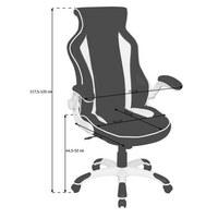 CHEFSESSEL  in Lederlook Schwarz, Weiß - Schwarz/Weiß, Design, Kunststoff/Textil (72/117,5-125/70cm) - Xora