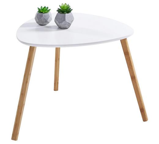 BEISTELLTISCH Bambus teilmassiv Freiform Naturfarben, Weiß  - Naturfarben/Weiß, Design, Holz (55/45/55cm) - Carryhome