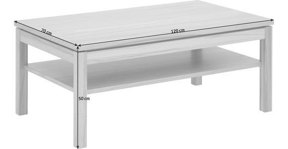 COUCHTISCH in Holz 120/70/50 cm - Buchefarben/Nickelfarben, KONVENTIONELL, Holz/Metall (120/70/50cm) - Voleo
