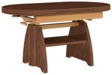 COUCHTISCH in Metall, Holzwerkstoff 110-131/65/56-75 cm   - Nussbaumfarben, KONVENTIONELL, Holzwerkstoff/Metall (110-131/65/56-75cm) - Venda