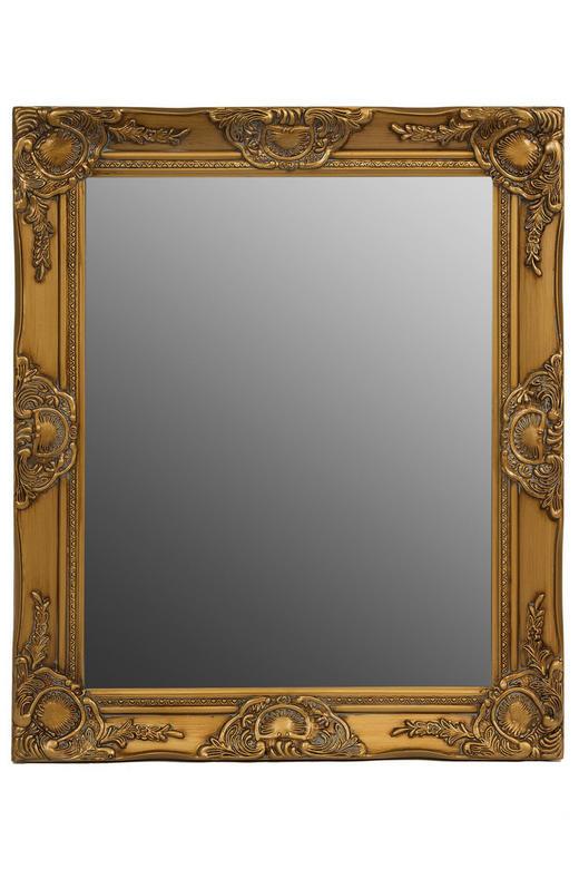 WANDSPIEGEL - Goldfarben, LIFESTYLE, Glas/Holz (52/62/4cm)