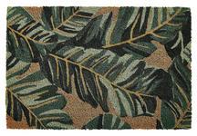 FUßMATTE 40/60 cm Blätter Grün, Goldfarben  - Goldfarben/Grün, Trend, Kunststoff/Textil (40/60cm) - Esposa