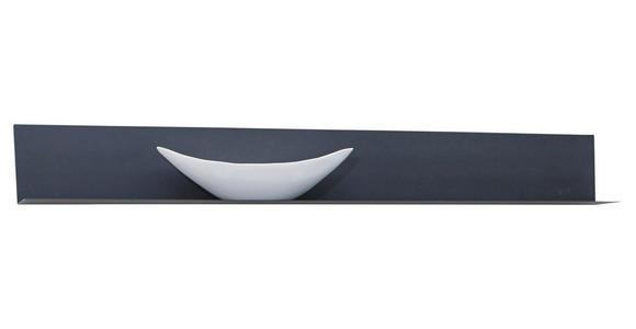 WANDBOARD in 154/19/20 cm Anthrazit - Anthrazit, Natur, Metall (154/19/20cm) - Valnatura