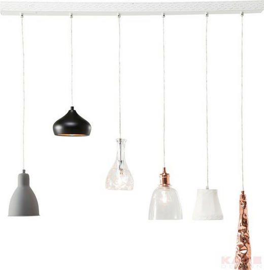 HÄNGELEUCHTE - Multicolor, Design, Glas/Keramik (110/138/17cm) - Kare-Design