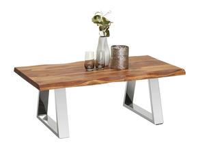 SOFFBORD - sheshamfärgad/rostfritt stål-färgad, Design, metall/trä (110/60/40cm) - Novel
