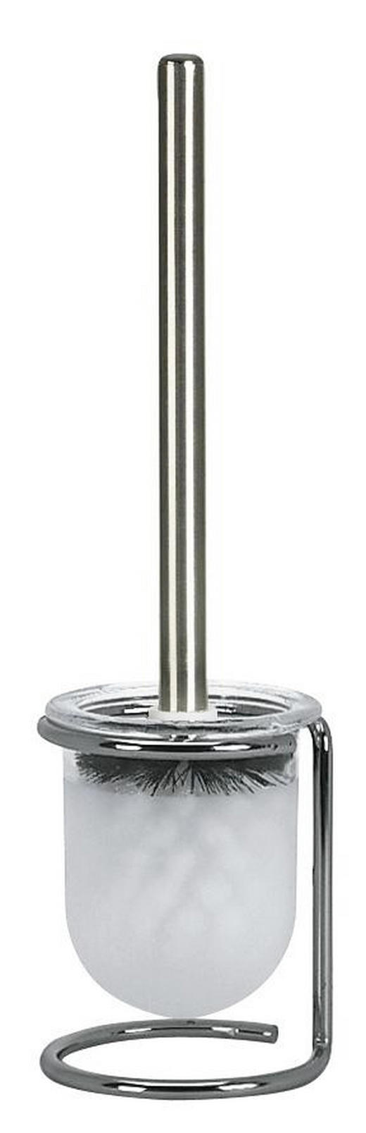 WC-BÜRSTENGARNITUR - Chromfarben/Weiß, Basics, Glas/Kunststoff (11/40cm) - SPIRELLA
