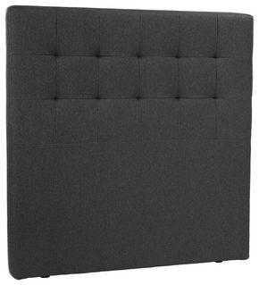 HUVUDGAVEL - mörkgrå, Klassisk, trä/textil (120/125cm) - Novel
