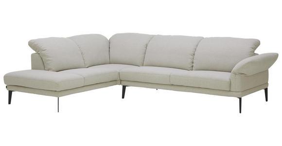 WOHNLANDSCHAFT in Textil Silberfarben - Anthrazit/Silberfarben, Natur, Textil/Metall (226/281cm) - Valnatura
