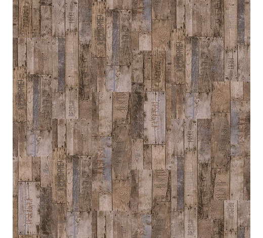VINYLBODEN per  m² - Hellbraun/Dunkelgrau, MODERN, Holzwerkstoff/Kunststoff (120,7/21,6/0,96cm) - Parador