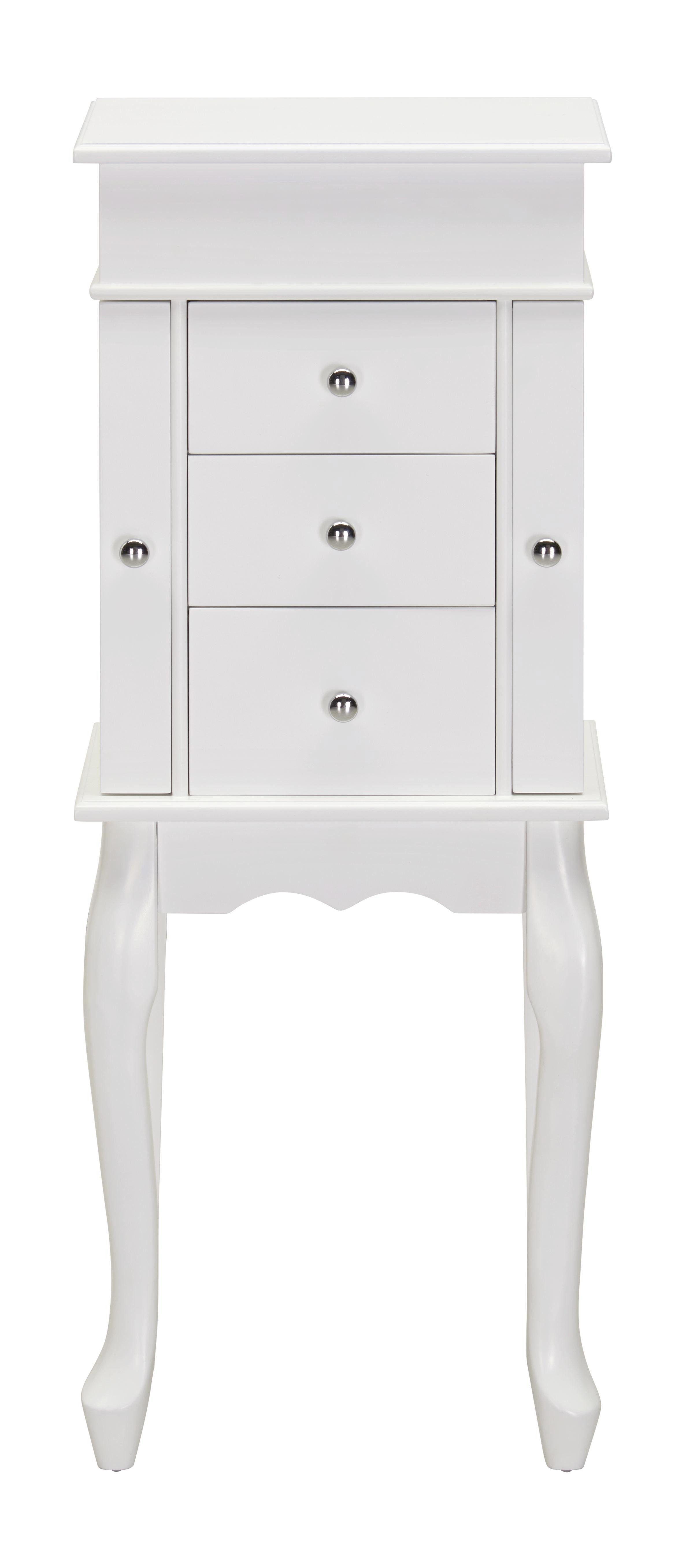 SMYCKESSKÅP - vit/kromfärg, Design, metall/glas (32/84,4/21cm) - Xora