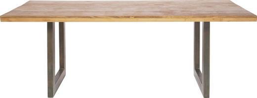 ESSTISCH Teakholz massiv rechteckig - Design, Holz/Metall (200/90/75cm) - Kare-Design