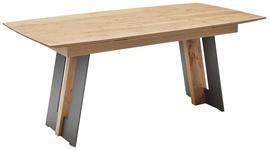 ESSTISCH in Holz, Metall 160(260)/95/77 cm - Eichefarben/Anthrazit, KONVENTIONELL, Holz/Metall (160(260)/95/77cm) - Valnatura