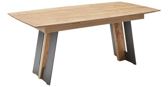 ESSTISCH in Holz, Metall 190(290)/95/77 cm - Eichefarben/Anthrazit, Natur, Holz/Metall (190(290)/95/77cm) - Valnatura