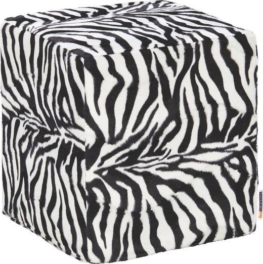 SITZWÜRFEL Weiß - Schwarz/Weiß, Design, Textil (38/41/38cm) - Carryhome