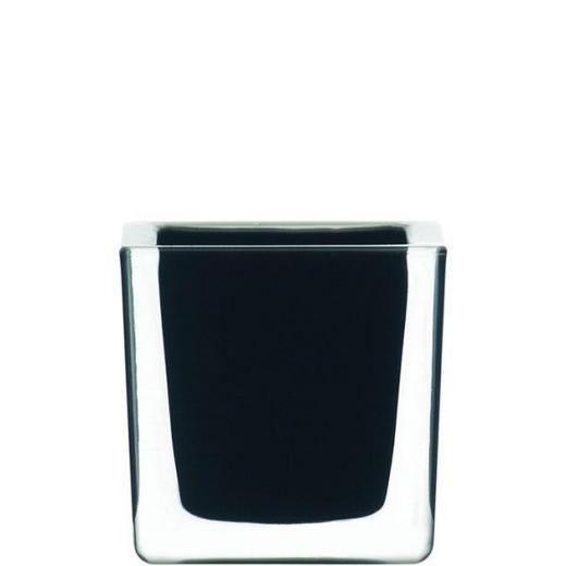 TEELICHTHALTER - Schwarz, Basics, Glas (8/8/8cm) - LEONARDO